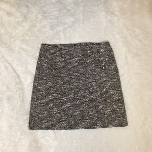 LOFT Tweed Gray with Purple and White Skirt